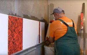 покупка и кладка керамической плитки на стену